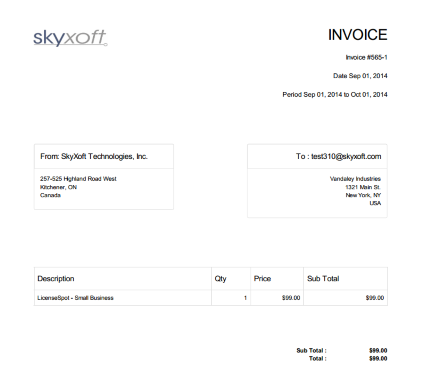Look Professional By Emailing PDF Invoices  Invoice Example Pdf